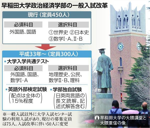 早稲田大学政治経済学部の一般入試改革